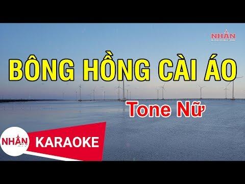 Bông Hồng Cài Áo (Karaoke Beat) - Tone Nữ