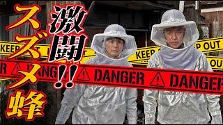 【閲覧注意】スズメバチ駆除🐝炎天下でやったらボロボロになった😭