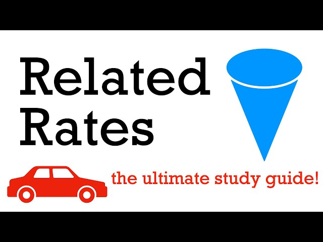 7 related rates examples (must know!)