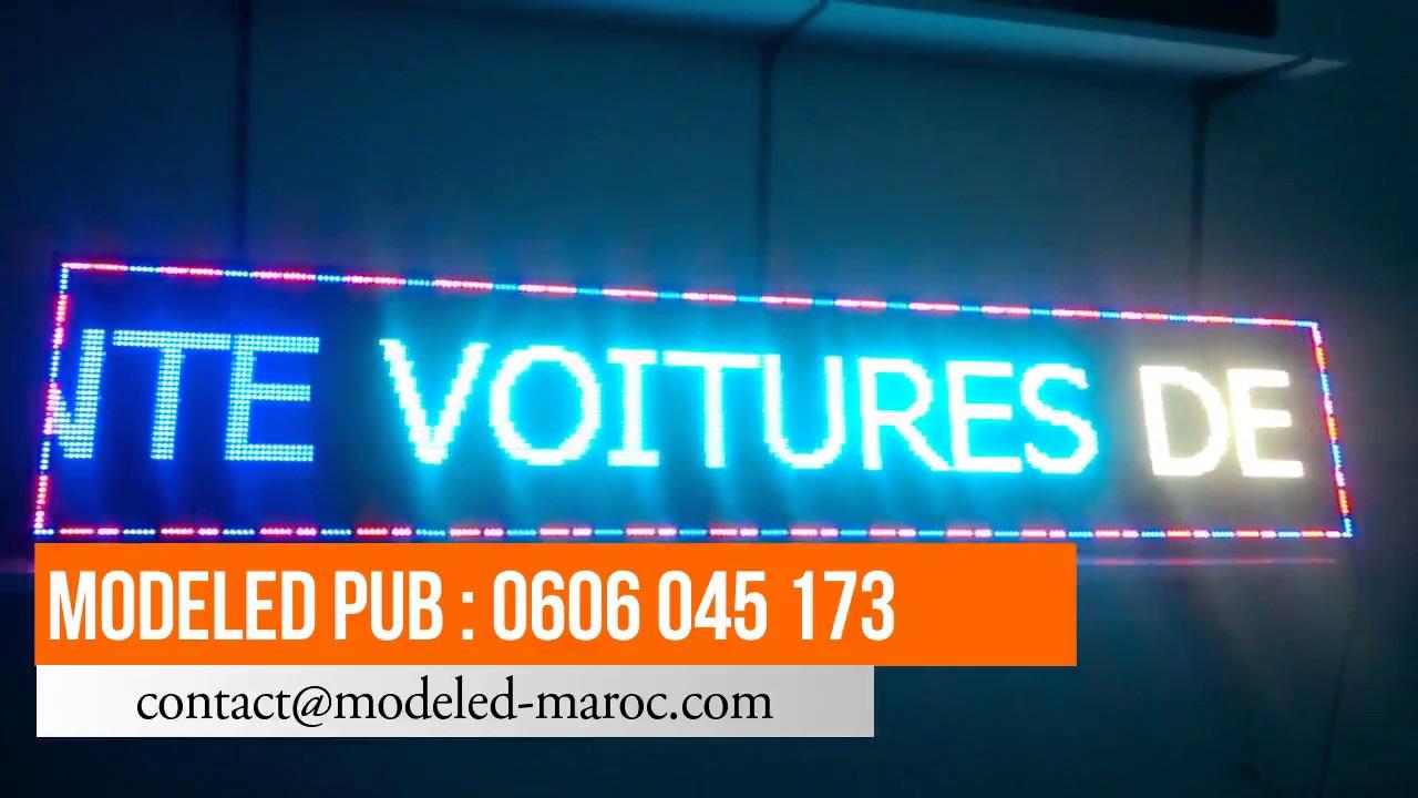 panneau publicitaire maroc led 200 cm 48 cm p10 multicouleur outdoor youtube. Black Bedroom Furniture Sets. Home Design Ideas