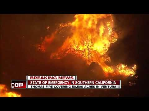 Latest details on the Thomas Fire live in Ventura