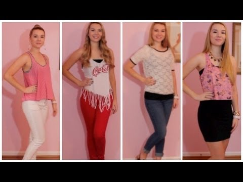 Outfits of the Week August 20-24 - YouTube