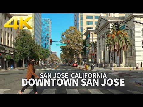 [4K] SAN JOSE – Driving Downtown San Jose, California, USA, Travel, 4K UHD