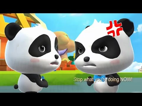 Little Panda Saves The Town | Baby Panda's Puzzle Town - Kids Healthy Eating | Fun Games For Kids