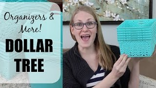NEW DOLLAR TREE ORGANIZERS! | Spring 2016 Haul