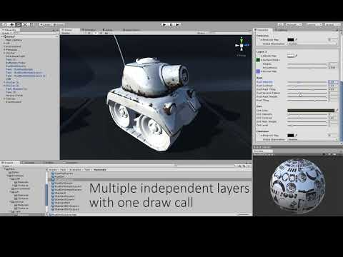 Distress & Layering Shaders - Adding rust, dust & moss - Tank example