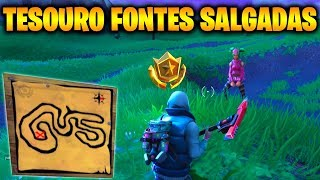 TREASURE MAP IN SALGADAS FOUNTAINS-Fortnite Challenges Week 3 (Battle pass 4)