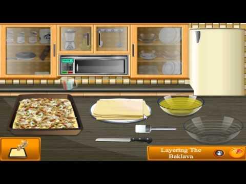 เกมส์ทําอาหาร, เกมทำอาหาร Saras Cooking Class Baklava - Cooking Games