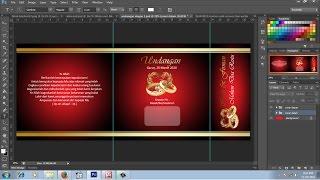cara membuat undangan pernikahan elegan effect emas