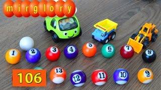 Машинки мультфильм - Город машинок 106 серия: Цветные шарики цифры. Развивающие мультики mirglory
