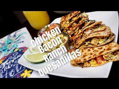 Vegan Chicken Bacon Ranch Quesadillas | B Foreal