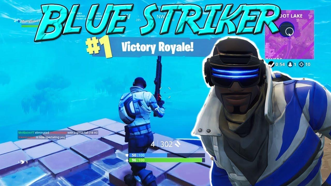 "New Free PS4 Skin ""Blue Striker"" Victory | Fortnite Battle ..."