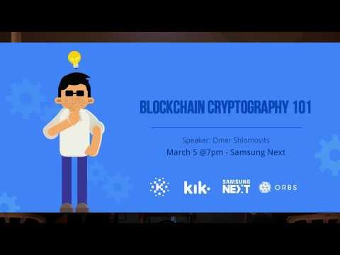 Blockchain Cryptography 101