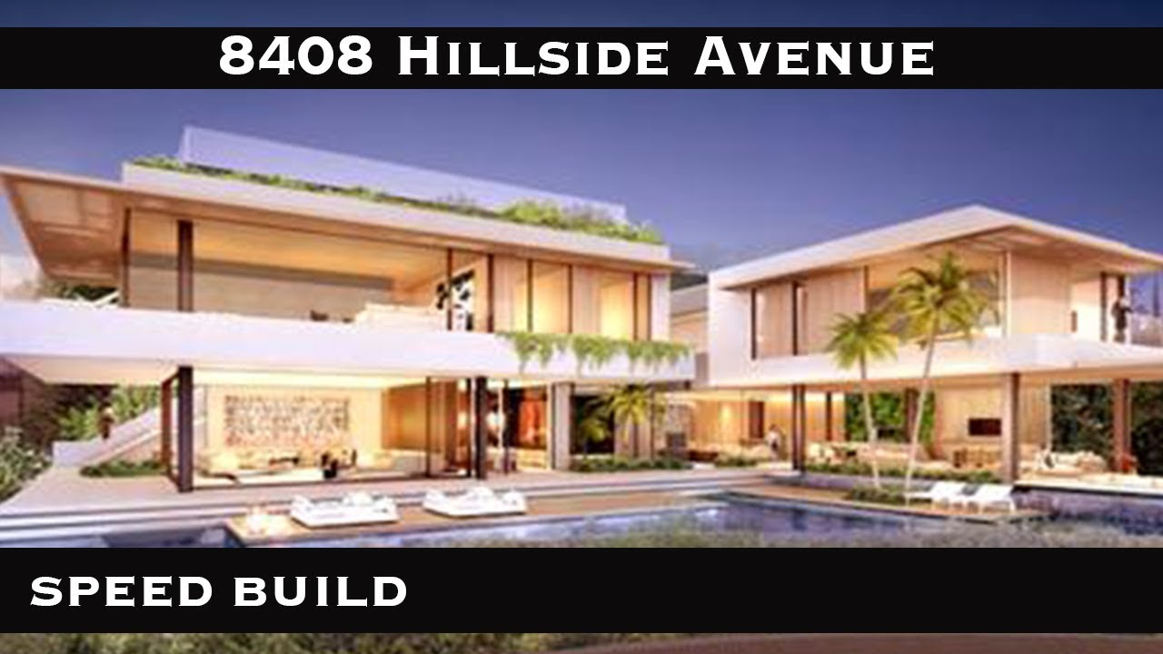 The Sims 4 Mansion Selling Sunset Mansion 8408 Hillside Avenue Youtube