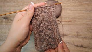 Декоративная коса с «Медовыми сотами» спицами | Decorative cables «Honeycombs»