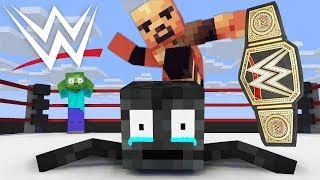 Monster School : WITHER SKELETON WRESTLING CHALLENGE - Minecraft Animation