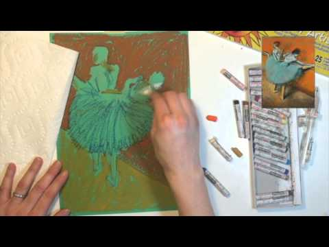 Edgar Degas Oil Pastel Reproduction Tutorial