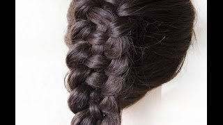 Французская коса из 4 прядей French braid 4 strands