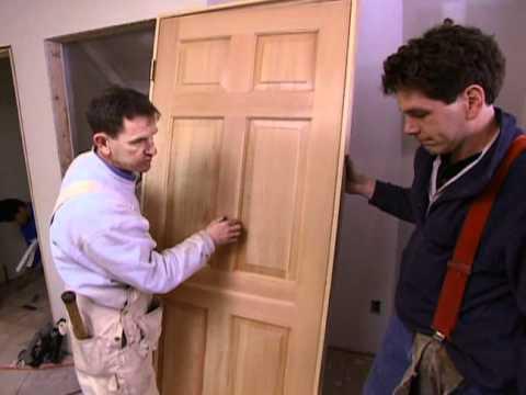 How to Install a Door - Habitat for Humanity - Bob Vila eps.1908 - YouTube