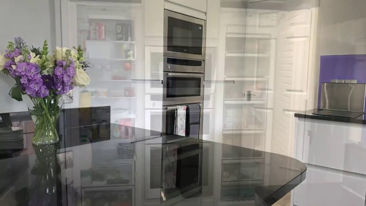 Matt Grey Handleless Kitchen With Quartz Worktops YouTube - Matt grey kitchen cupboards