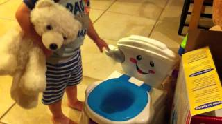 1st time potty training pt.2