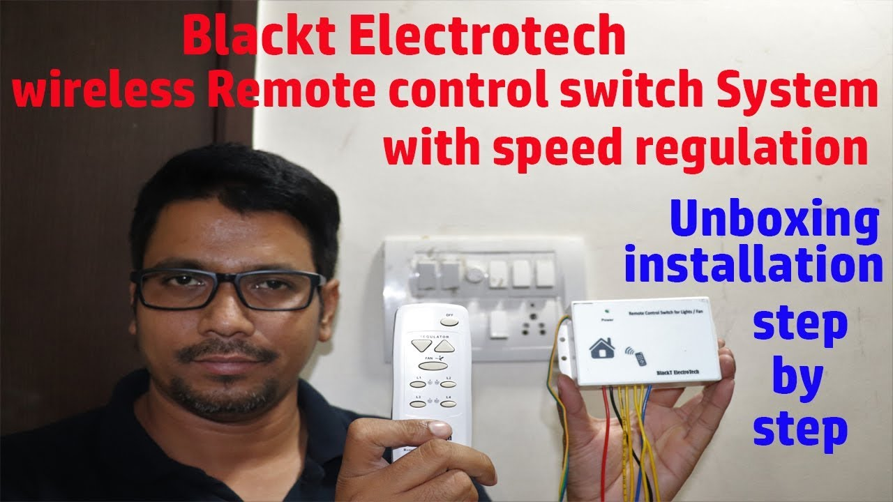 Hindi || Blackt Electrotech wireless Remote-control switch System with  speed regulation