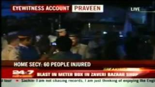 Mumbai Terror Attack-Zaveri Bazaar Eye Witness July 13th 2011 Mumbai Blasts India *New*