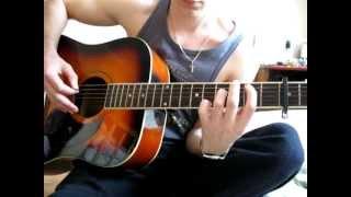 Dry aka беzzаботный [как играть] - Человек, однажды подаривший сердце (видеоурок)(cover by Fliro)