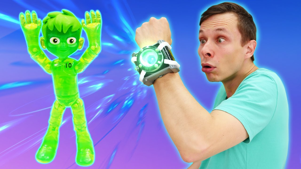 БЕН 10 в видео игре - Часы Омнитрикс Бен Тена сломались? – Супергерои игры битвы в Автомастерской