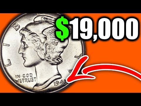 How much is a 1943 wheat dime worth