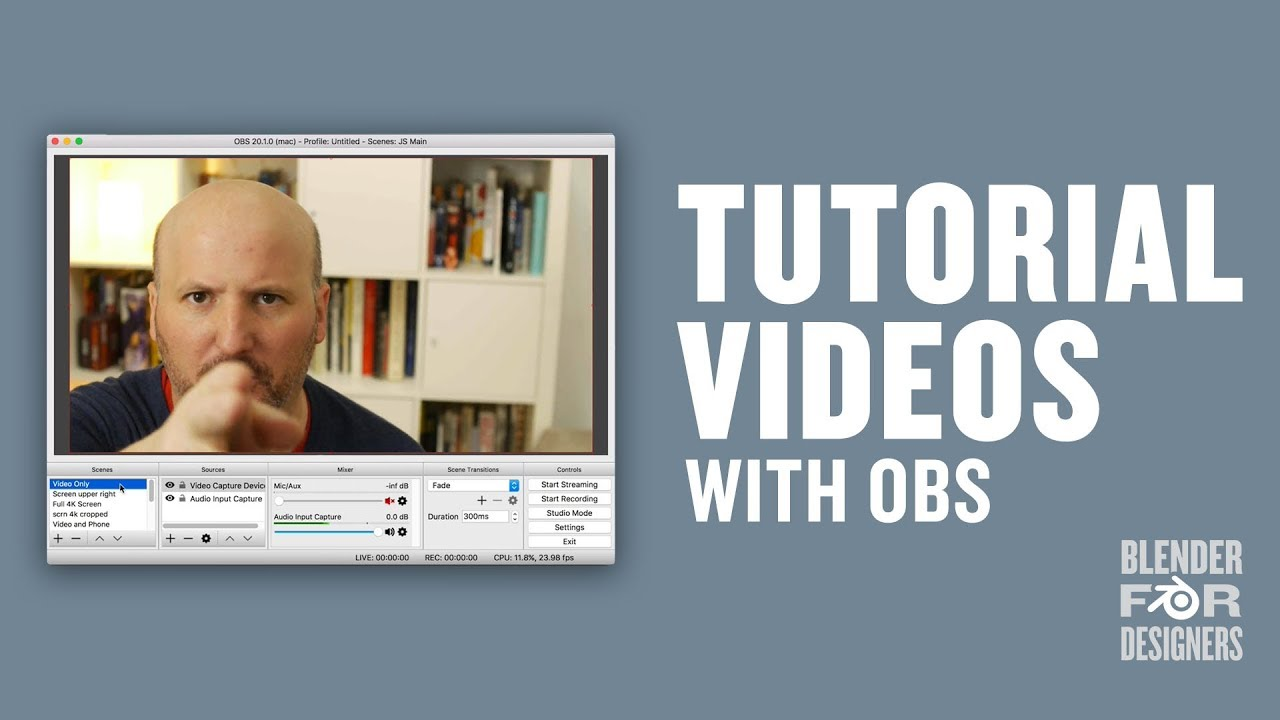 Making Tutorial Videos With Obs And Blackmagic Ultrastudio Youtube