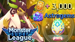 SUPER LUCKY! EXTREMELY SHORT HEROES FEST   Ticket + 3,000 Gems, Both Accounts   Monster Super League
