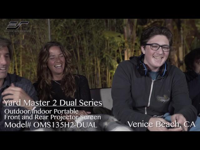 Elite Screens Yard Master 2 Dual Projection Screen Review with Juan Feldman