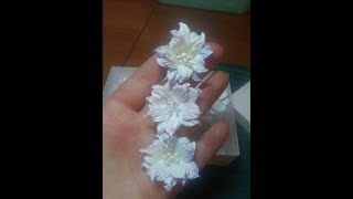 видео Цветы из акварельной бумаги. Не сложные, но красивые