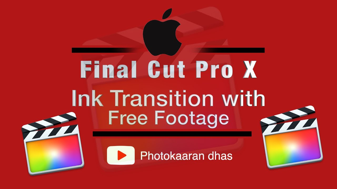 Download Tamil Tutorial || Ink Transition in FCP X with Free Ink Footage |