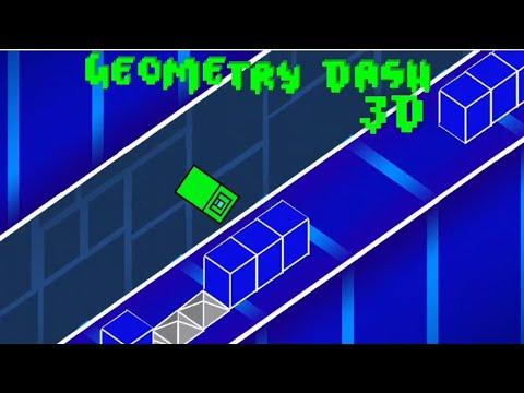 GEOMETRY DASH 3D | Geometry Dash - Davoxt (2.2 Fan Made + 3D Mode Level)
