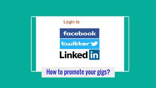 How to promote fiverr gigs
