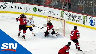 Devils' Kinkaid Makes Reactionary Save Off A Double Deflection