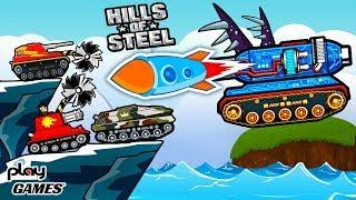 ПРОБУЮ разные ТАНКИ! Разгром на ЖНЕЦЕ супер ОБНОВЛЕНИЕ онлайн в мульт игре HILLS of STEEL