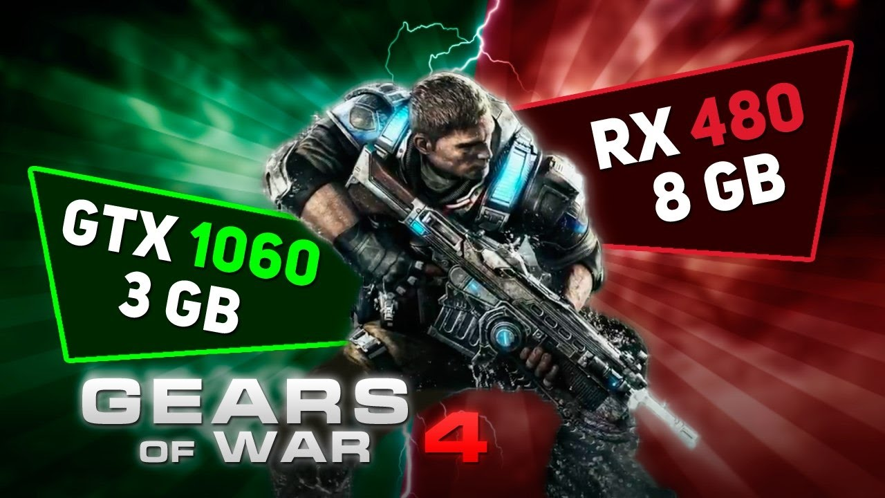 GTX 1060 3Gb против RX 480 8Gb в игре Gears of War 4
