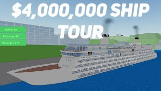 New Ship & Furniture! Roblox Cruise Ship Tycoon!