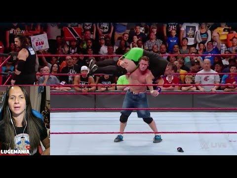 WWE Raw 8/21/17 Samoa Joe confronts Roman and John Cena