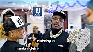 DaBaby & Danileigh spend a BAG at Jewelry Unlimited while eating Hot wings