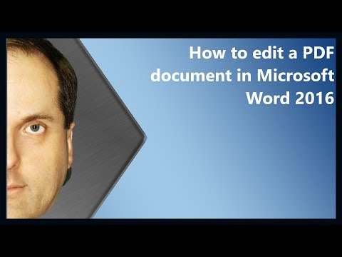 How to edit a PDF document in Microsoft Word 2016