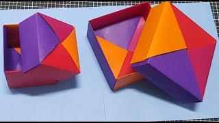 종이상자접기,색종이로 딱지상자접는방법(큰상자랑 작은상자…