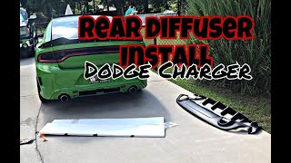 How to install a REAR DIFFUSER on a Dodge Charger! STEP BY STEP