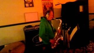 "Brian ""saxophone"" Jones at Square Lemon Recording Studio"