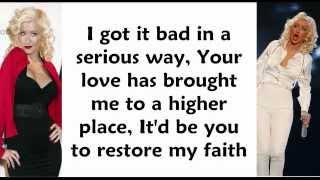 Christina Aguilera - Makes Me Wanna Pray (Lyrics On Screen)