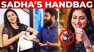 FUN: Sadha Tooth Paste-la UPPU Irukka? | Sadha Handbag Secret! | What's Inside the HANDBAG