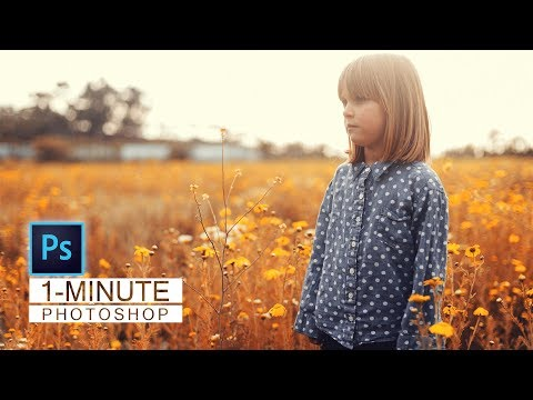 1-Minute Photoshop | Autumn Color Effect In Photoshop